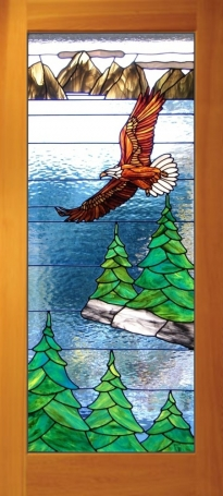 Eagle stained glass