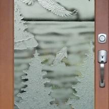 eagle soaring carved sandblasted rz