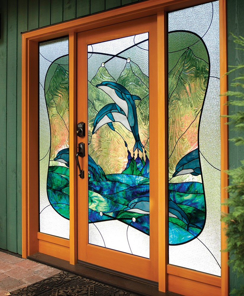 Stained Glass Carved Sandblasted Entrance Ways