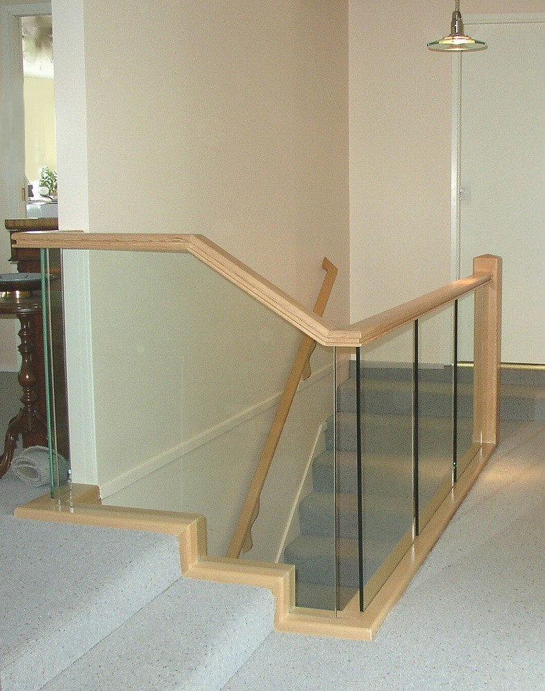 Interior Railings Glass Clear Carved