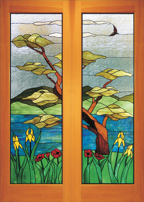 Stained Carved Sandblasted Glass Windows Doors Bc