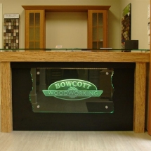 Bowcott Woodworking carved glass sign